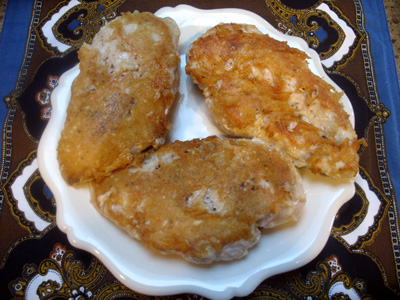 nicely browned parmesan chicken
