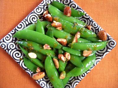 almond-sherry veggies