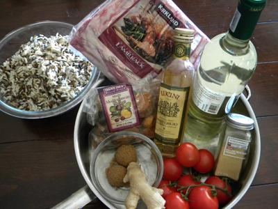 Mostarda and Lamb ingredients