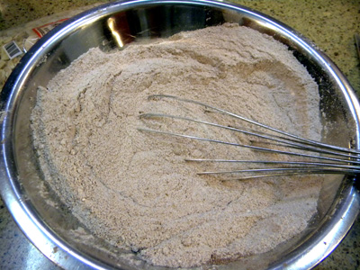 dry ingredients after whisking to blend