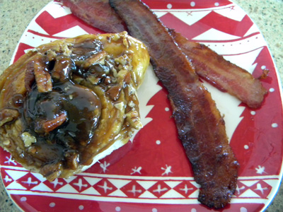 Christmas morning meal