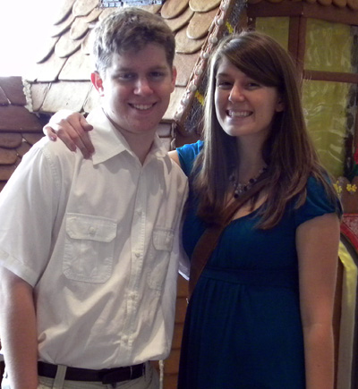 Marissa with her brother, Connor, at her birthday brunch