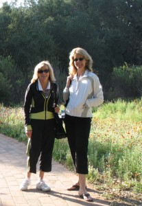Barbara Pool Fenzl and Kim Howard at our amazing spa trip in Rancho LaPuerta in 2008
