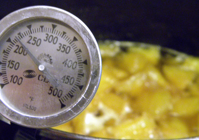and pineapple reaches 220 degrees