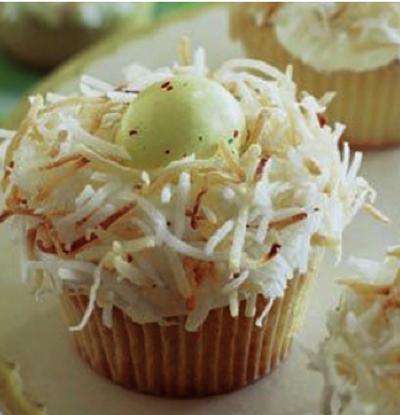 birdnest cupcake