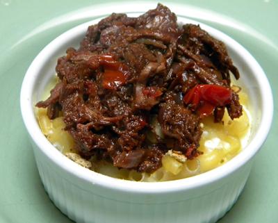 Mac & Cheese with Beef Short Rib Ragù
