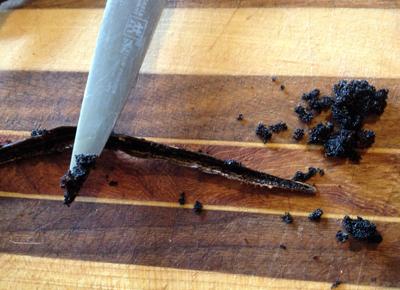 back of knife for seeds