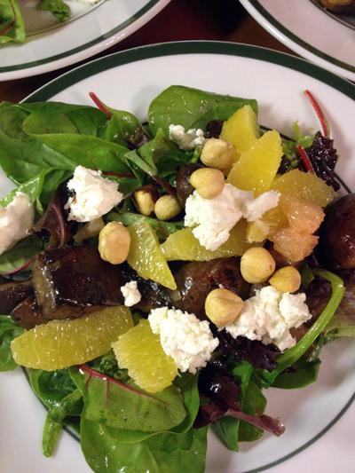 grilled mushroom and citrus salad