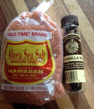 salt and vanilla beans