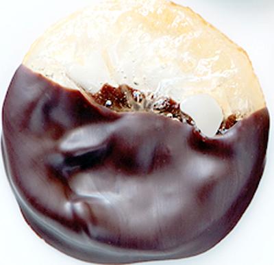 chocolate dipped meyer lemon slice