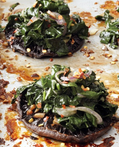 portobello with kale