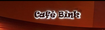cafe bink sign