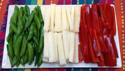 Cinco de Mayo Crudites Mexican Flag