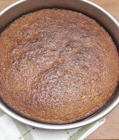 Polenta-Pistachio Cake baked