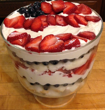 Red White & Blue Trifle