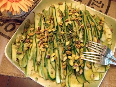 """Zucchini """"Carpaccio"""" and Avocado Salad"""