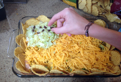 assembled the layer dip flag