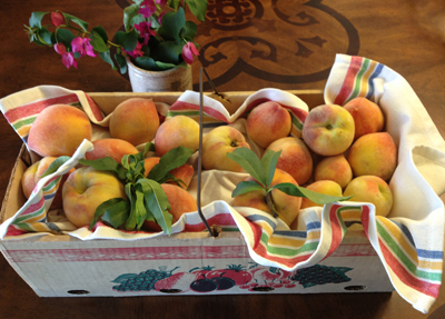box of peaches
