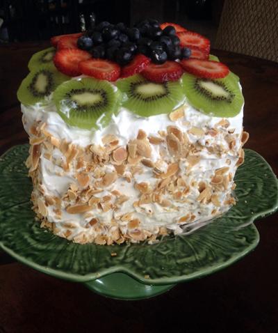 fresh watermelon cake Les Petites Gourmettes