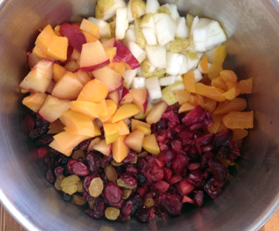 diced fruit