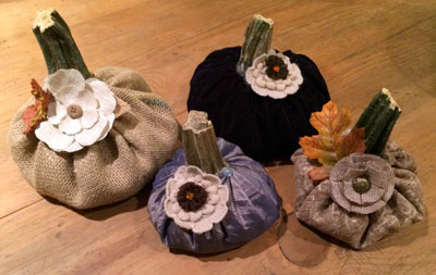4 pretty pumpkins