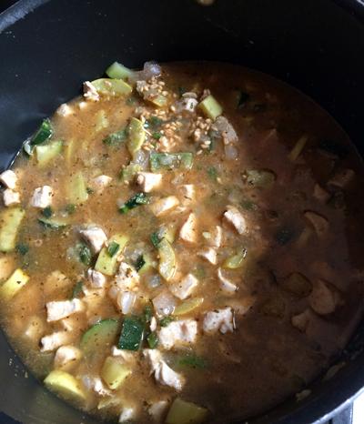 barley white bean chicken chili