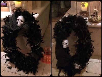 boa and glitter wreaths
