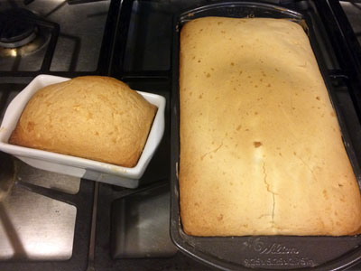 2 baked cakes