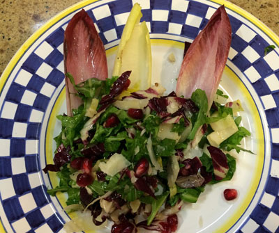 Bitter salad serving