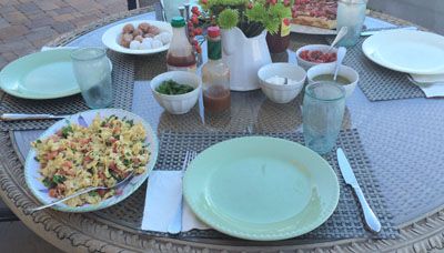 brunch on the patio