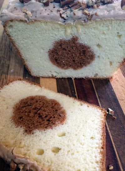 pumpkin bread pound cake peekaboo pumpkin