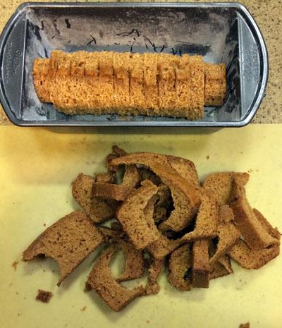 pumpkin bread scraps