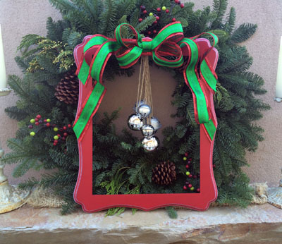 frame and bell wreath 1