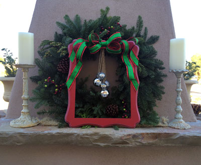 frame and bell wreath 2