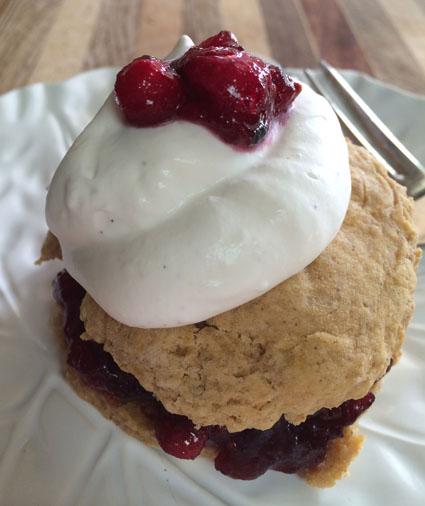 sweet potato cranberry shortcakes
