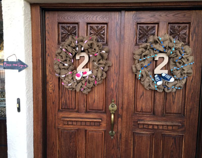 2 wreaths