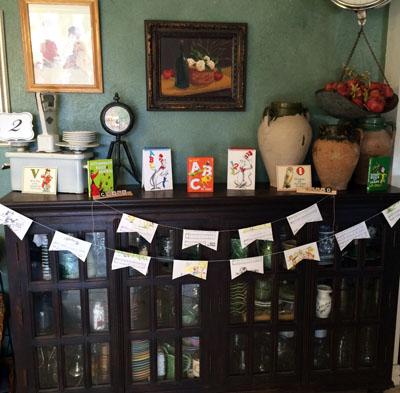 books and bundting