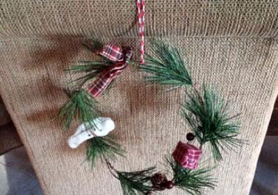 wreath chair backs