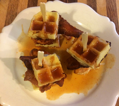chicken and waffle sliders1