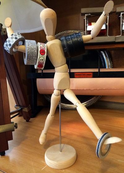 figure tape holder
