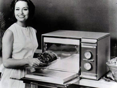 pretty microwave lady