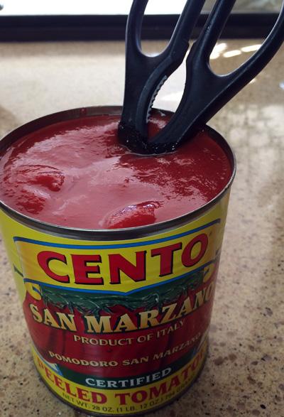 scissor tomatoes
