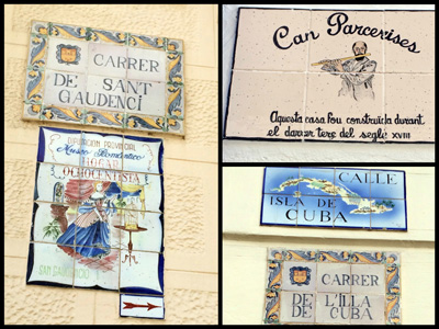 tile signs