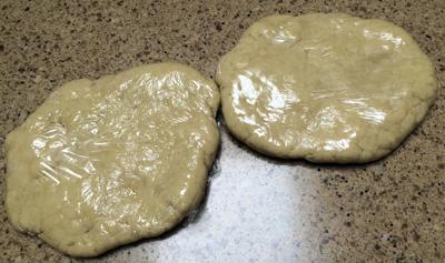 2 dough rounds