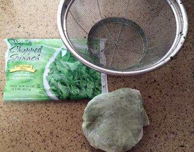 drain spinach