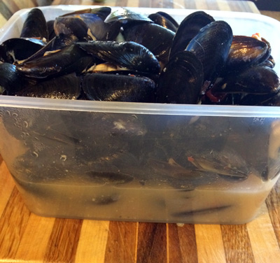 leftover mussels