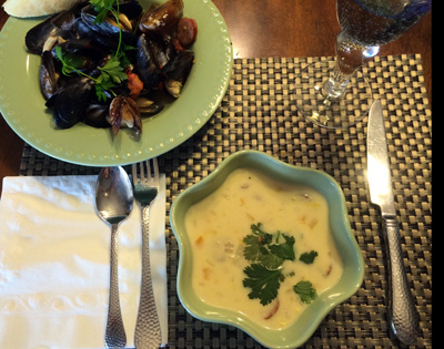 mussels and chowder