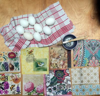 napkin squares ready