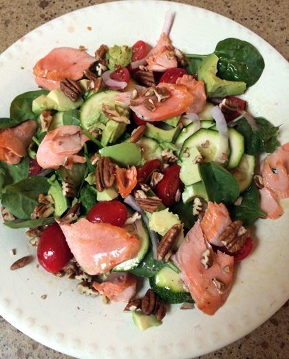 Summer Squash and Salmon Salad