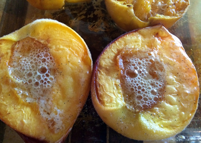 butter roasted peaches
